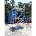 20 Ft Double Width Aluminium Scaffolding Ladder With Stair