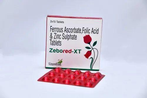 Ferrous Ascorbate Eq. To Elemental Iron 100mg,folic Acid 1.5mg,zinc 22.5mg