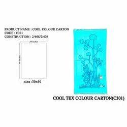 Printed Cotton Cooltex Color Carton Bath Towel, Rectangular, Size: 30x60 Inches