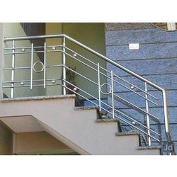 Silver Stairs SS Staircase Railing, For Home