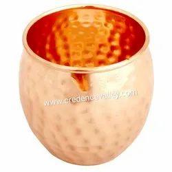 Copper Tumbler Hammered Design