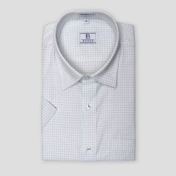 Men Violet Tattersall Checks Shirt