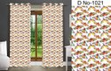 Goldy Satin Digital Print Curtains