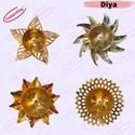 Brass Decorative Fancy Surya Deepak, Leaf Diya
