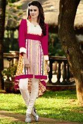 Silk Party Wear Ethnic Kurti, Wash Care: Machine wash