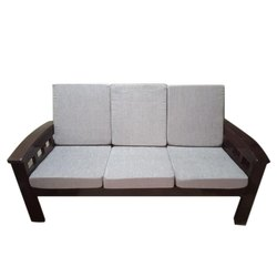 Brown Rectangular Modern Wooden Sofa