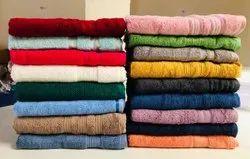 Neha Handkerchiefs Plain Terry Towels, For Bathroom, 250-350 GSM