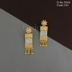 Traditional Pearl Polki Earring