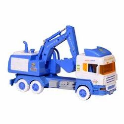 Big Size JCB Truck Friction Toy with Moveable Parts (30cm Long)