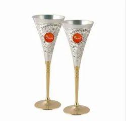 Brass Goblet Glass Set