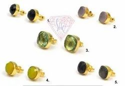 Multi Gemstone Stud Earring Set
