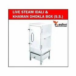 Stainless Steel Steam Idli and Khaman Dhokla Maker Machine, Capacity: 6 Tray