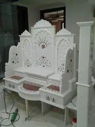 White Marble Singhasan