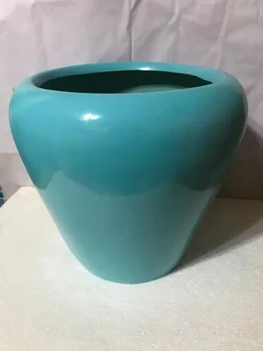 Light Blue Round FRP Pot, For Home, Size: 12