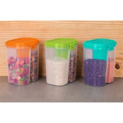 Plastic 2 Section Container