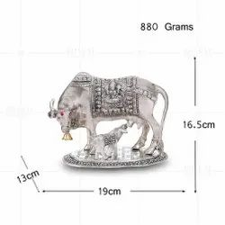 Silver Plated Cow And Calf Large Plain