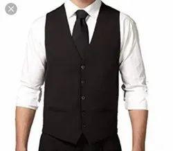 Plain Formal Black Waistcoat