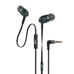 Black boAt Bassheads 228 in Ear Wired Earphones with Mic
