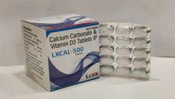 Calcium Carbonate 1250 Mg Eq.To Calcium 500 Mg & Vitamin D3 250 IU Tablets