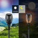 LED Flame Solar Garden Light
