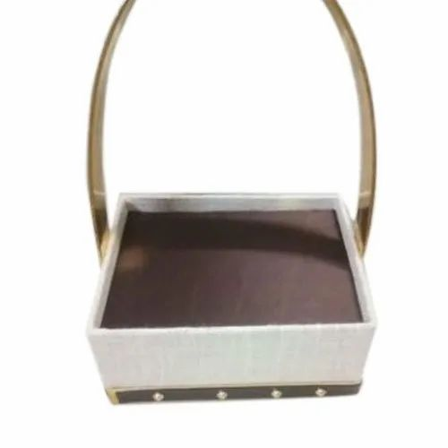 White,Black Mdf And Paper Fancy Gift Packing Basket, For Gifting, Capacity: 2 Kg
