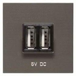 ABB IVIE N2285 AN 1.5mA USB Charger Socket