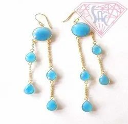 Peru Chalcedony Earrings