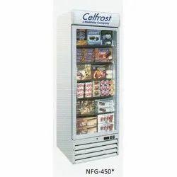 Celfrost vertical glass door freezer