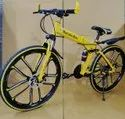 Mercedes Benz Yellow 10S Foldable Cycle