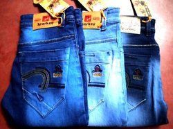 Faded Comfort Fit Men Denim Jeans, Waist Size: 28