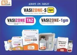 VASIZONE-TAZ Injection Cefoperazone 1000mg   Tazobactam 125mg