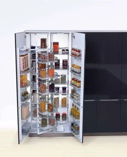Pvc Wood Stainless Steel Spitze 2 Door Pull Out Kitchen Pantry Size Dimension 1250x600 Mm Rs 117098 Piece Id 22751197097