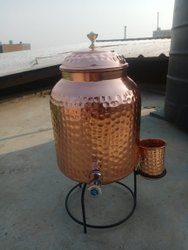 Copper Water Tank with Glass, Size: 8 Ltr