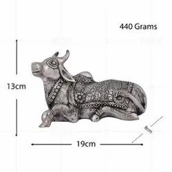 Silver Plated Nandi Ji Hollow