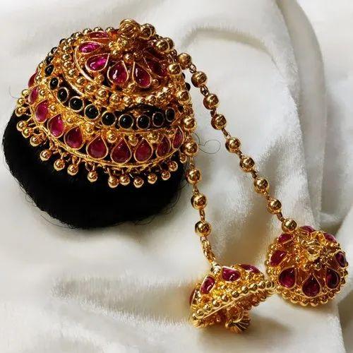 Rental Andal Kondai Hair Accessories, Rs 4200 /piece Prabhu Jewellers | ID:  22734419862