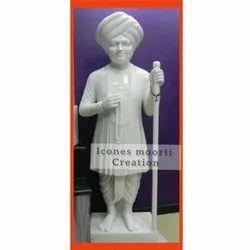 White Marble Jalaram Baba Statue