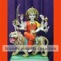 Designer Marble Durga Statue
