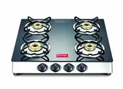 Superior Toughened Glass-top Black Marvel Plus GTM 04 SS Plus Prestige Gas Stove, For Kitchen