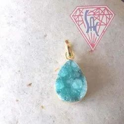 Electroplated Druzy Pendant