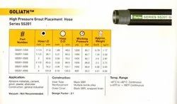 High pressure Grout placement hose