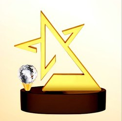 DT 1406 Crystal Table Top Trophy