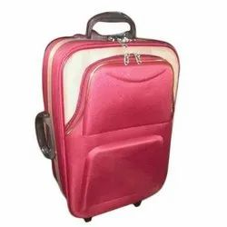 Magenta and Cream Polyester Waterproof Cabin Suitcase, For Tour, Size: 28 Inch