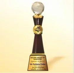 WM 9773 Flourish Crystal Globe Trophy