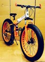 Orange BMW X6 Fat Tyre Foldable Cycle