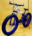 Blue BMW X6 Fat Tyre Foldable Cycle