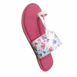Flat Leather Ladies Fancy Sandal, For Casual Wear, Size: 7