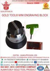 Mild Steel Gold Tool Mini Engraving Block 3 inch