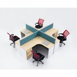 4 Seater Modular Workstation