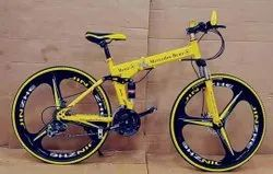 Mercedes Benz Yellow Foldable Cycle