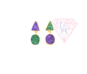 Gemstone Stud Earring With Gold Plated-Druzy Gemstone